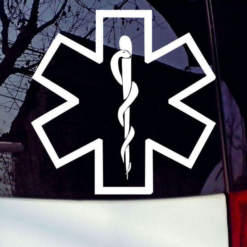 Emt Emergency Medical Snake Star Nurse Car Stickers Vinyl Car Laptop Window Adhesive Car Styling Decoration Accessories