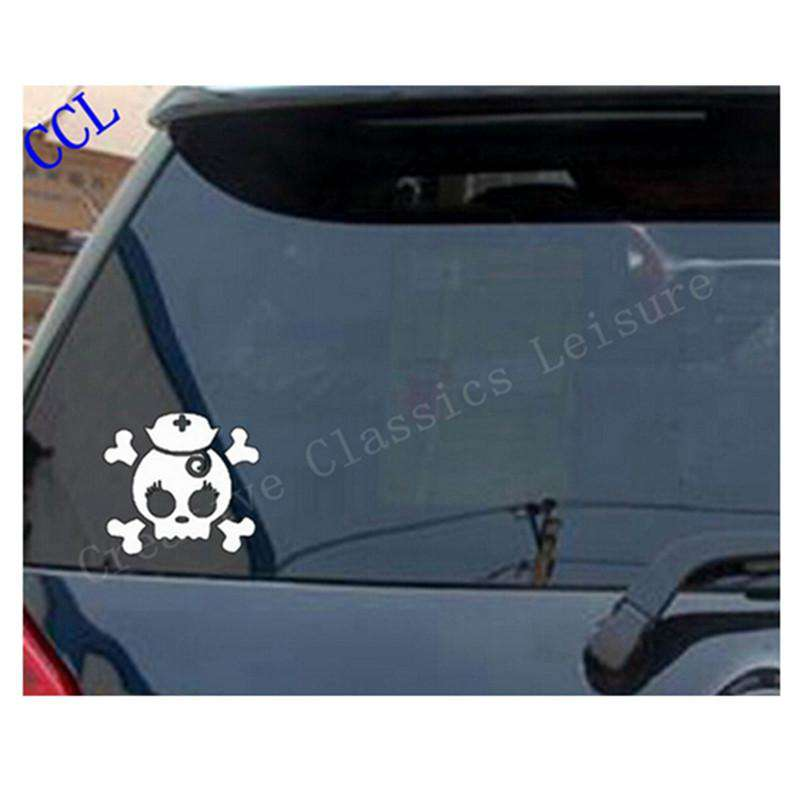 Nurse Skull vinyl car decal - skull decal for Macbook Laptop Sticker - Nurse decal ,free shipping s2079