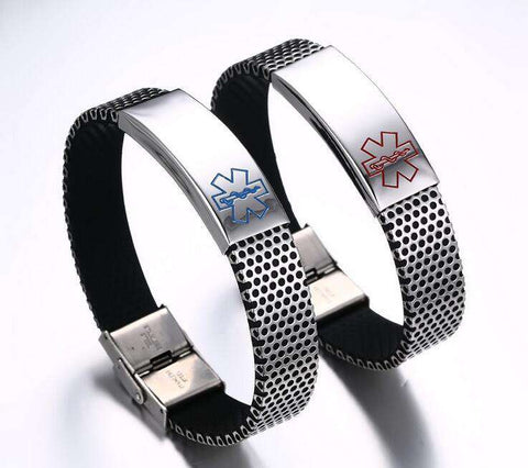 **Free Shipping+45% Discount** Medical Alert ID Bracelet