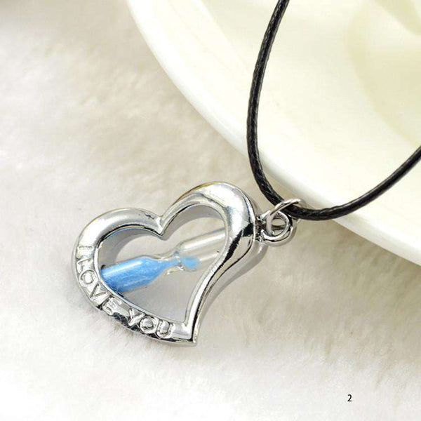 **43% Discount** Heart Hourglass Pendant Necklace
