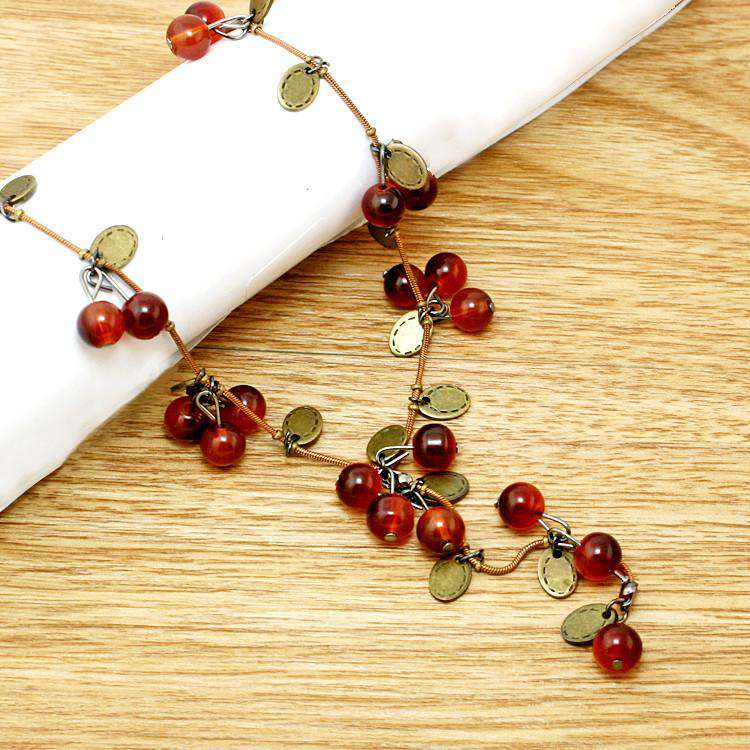 **41% Discount** Red Cherries Necklace
