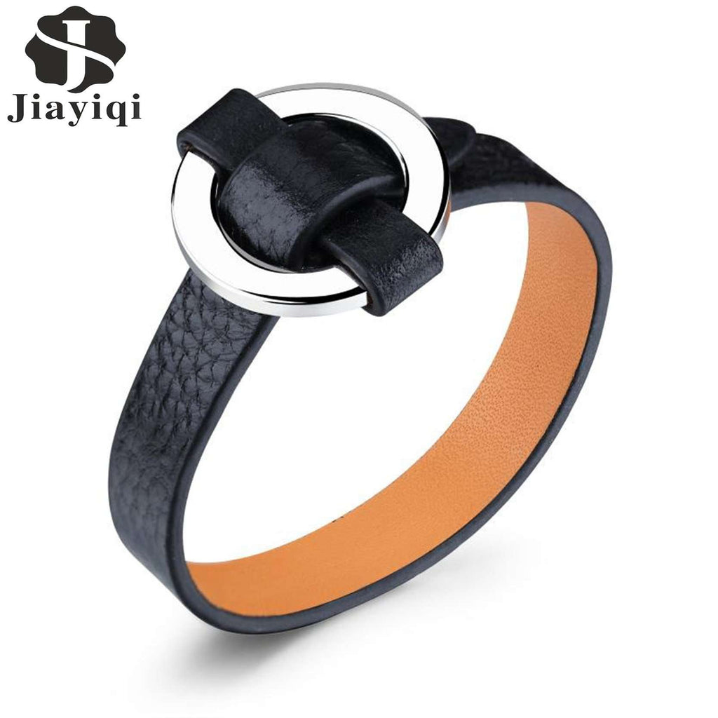 Fashion Leather Stainless Steel Bracelet