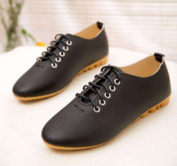 **37% Discount** Flat Women Leather Shoes