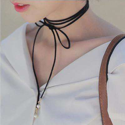 Bowknot Choker Necklace