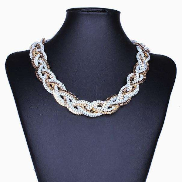 Multi Layered Chain Style Necklace