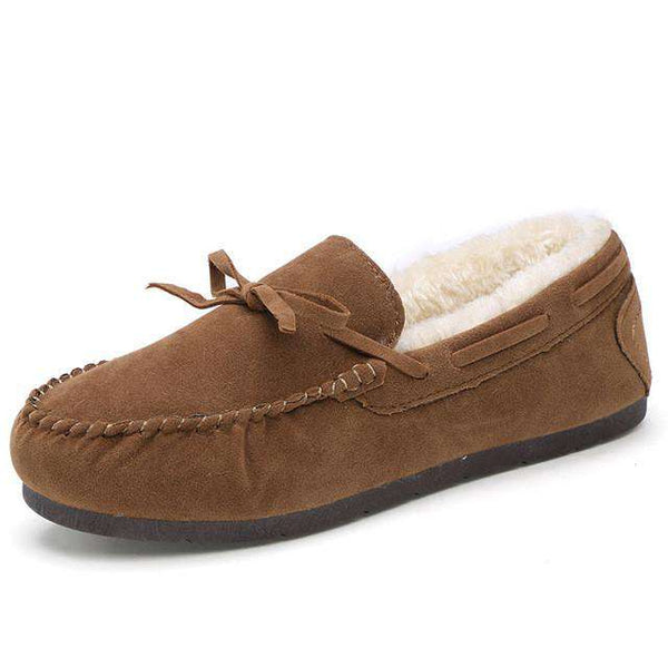 Warm Winter Loafers Ladies Shoes