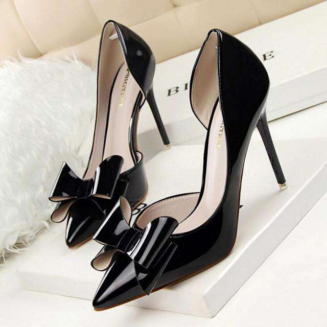 **11% Discount** Bow Two Piece High Heels Women's Pumps