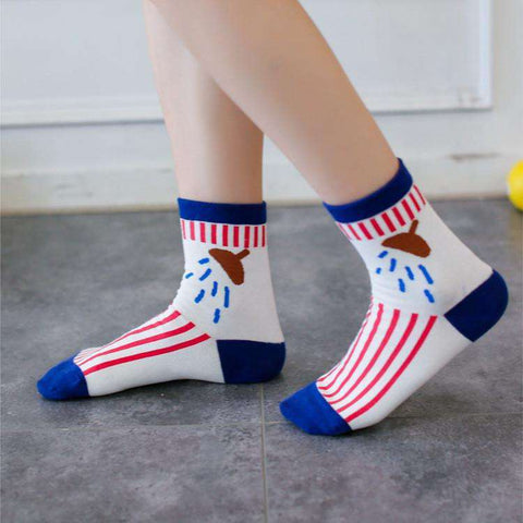 **Just Pay Small Shippping** Hot Striped Female Socks