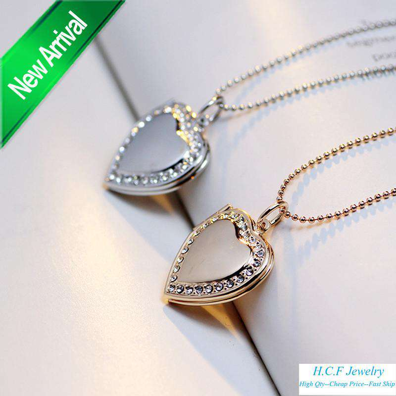 Heart Frame Couple Love Necklace