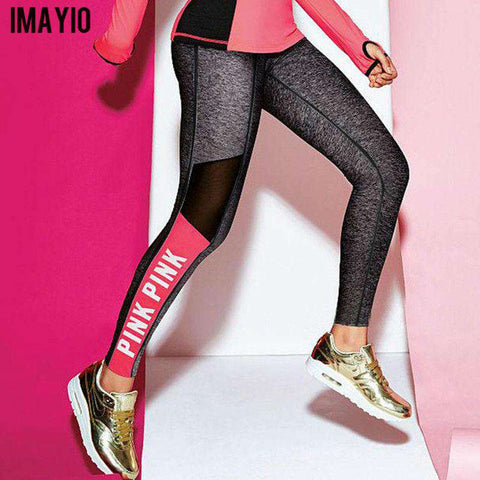 Breathable Mesh Pink Leggings