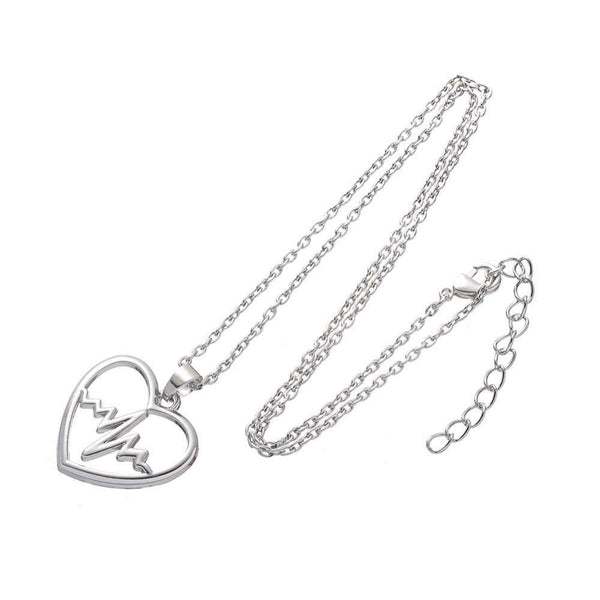 EKG Heartbeat Zigzag Wave Pattern Necklace For Nurses