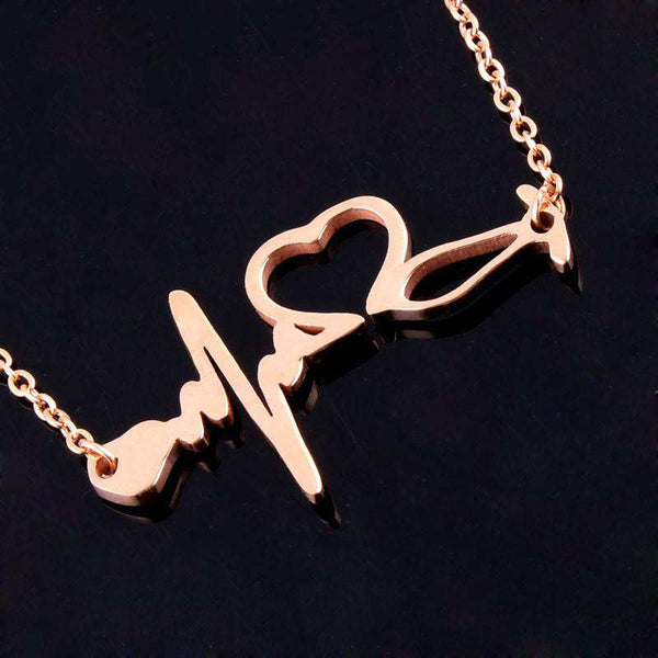 Stethoscope Heartbeat Necklace