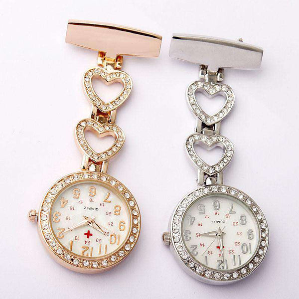 Heart-shaped Hanging Nurse Pin Watch