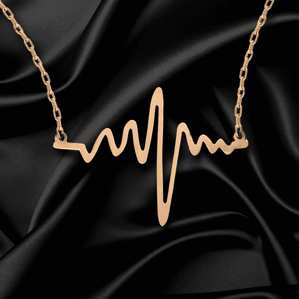 **50% Discount** Wave Heart ECG Necklace
