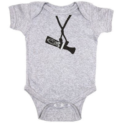 Heather Grey Baby Onesie