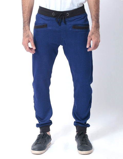 Royal Blue Denim Sweatpants