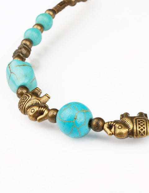 March Brass Antique Bracelet for Women
