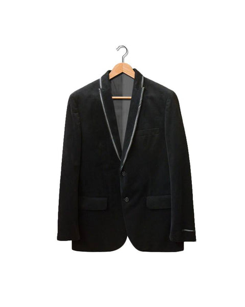 March Black Velvet Tuxedo Style Coat