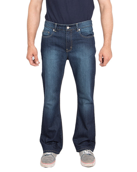 March Dark Blue Flared Bell-Bottom Jeans for Men