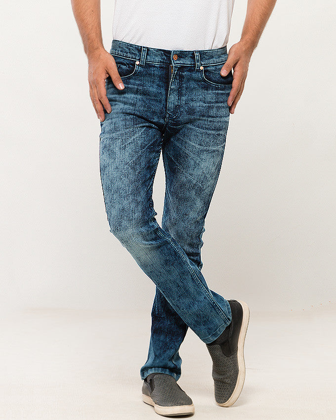 March Midday Blue Comfort Jeans W Sunlight Abrasion for Men