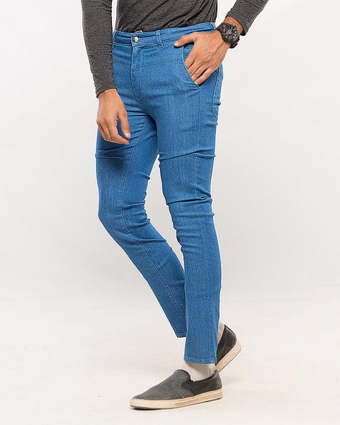 March Bromo Blue Denim Khakis for Men