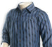 Nurai Medium Blue Tencel Denim Shirt W Stripes for Girls
