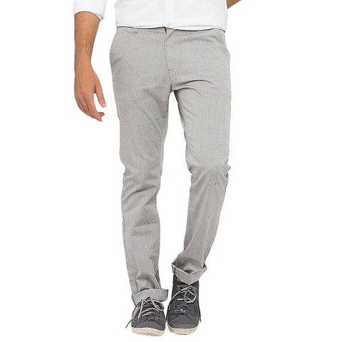 March Light Gray Casual Trousers for Men