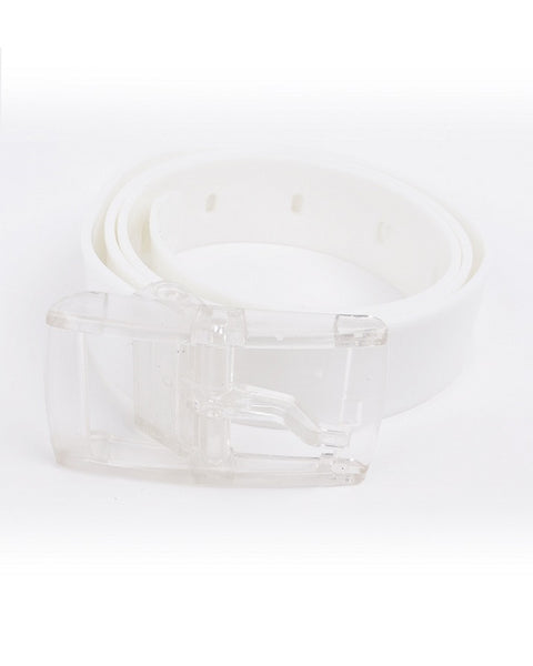 March White Silicon Belt for Women