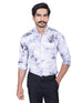 March Shaded Light Grey Tie Dye Button-down Shirt for Men
