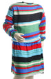 Nurai Multicolored Stripes Elasticated Waist Frock for Girls