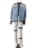 March Light Denim Acid Washed & Worked Jacket with Tie-Dye Effect & Silver Pants for Men