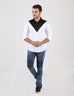 March Monochrome Shirt With Combed Cotton Body & Front Black Triangle for Men