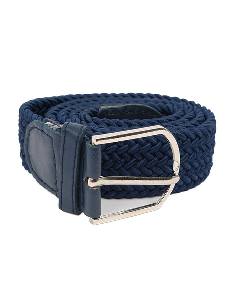 March Blue Braided Casual Belt for Men