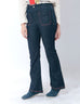 March Flared Jeans W Patch Pockets - Dark Wash for Women