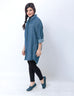 Nurai Dark Blue Oversize Denim Shirt for Women