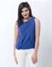 March Royal Blue Chiffon Top W Dual Layers for Women