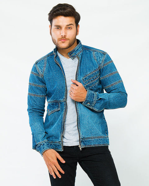 Medium Blue Bomber Jacket