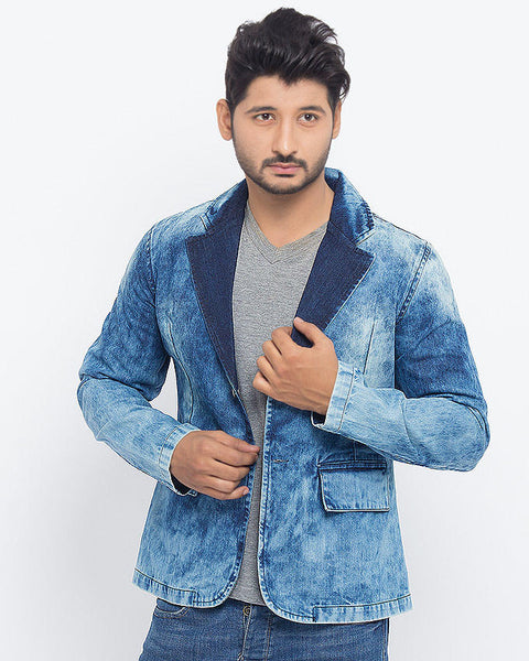 March Denim Coat in Random Wash for Men