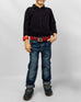 March Medium Blue Elasticated Jeans W Blasting for Boys