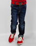 March Dark Blue Elasticated Jeans W/ Whiskers for Boys
