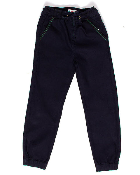 March Navy Blue Jogg Pants W Elasticated Waist for Boys