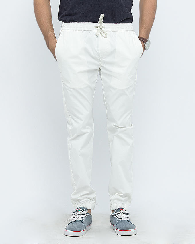 March Casual White Jog Pants For Men