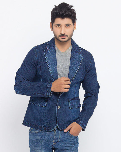 March Denim Coat in Rinse Wash for Men