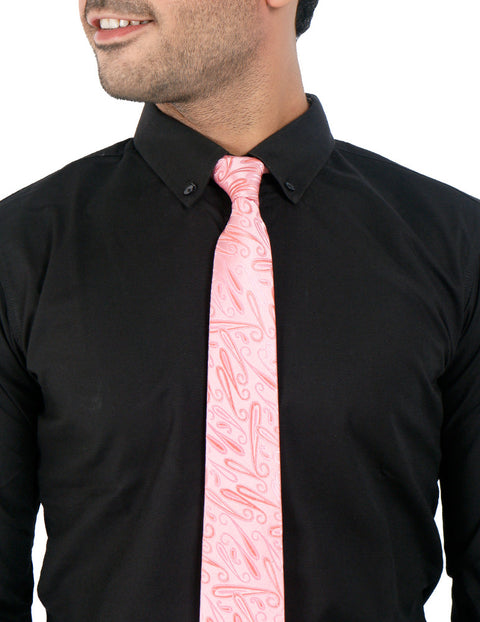 March Pink Textured Tie