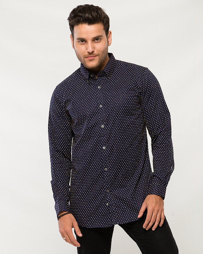 March Violet Shirt with Twinkle Prints for Men
