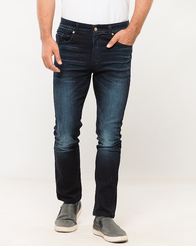 March Midnight Blue Comfort Jeans W Moonlight Abrasion for Men