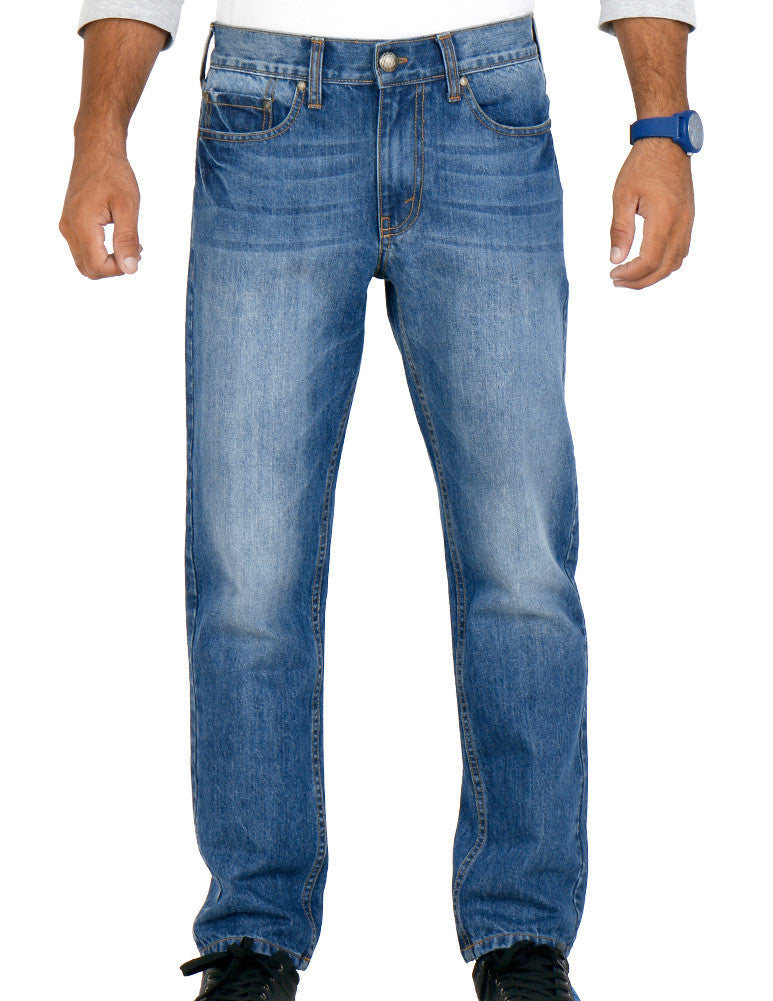 March Light Acid Wash Vintage Look Jeans For Men