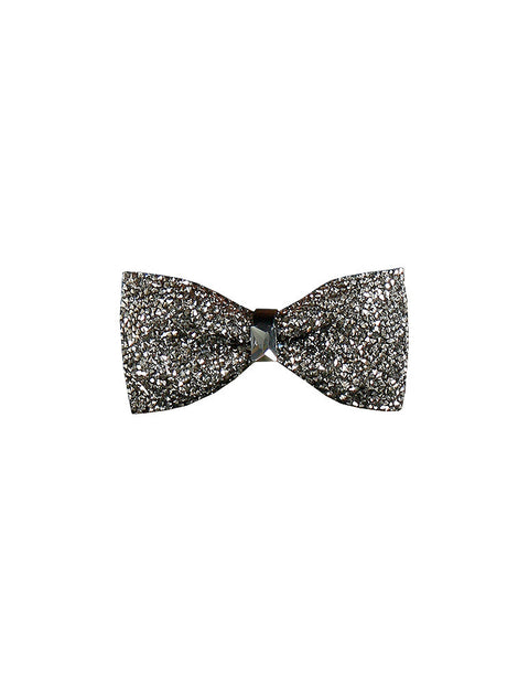 March Black Rhinestone Bow Tie