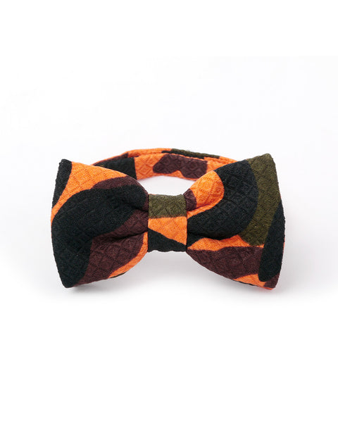 March Multi Colored Plaid Bow Tie