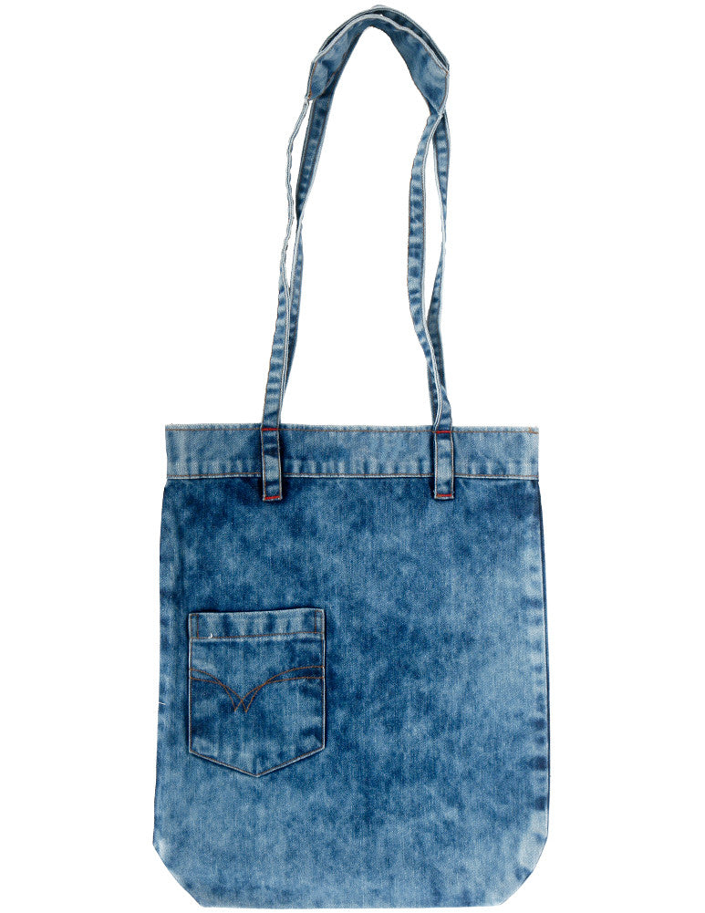 Asset x March Signature Denim Tote with Front Jean Pocket